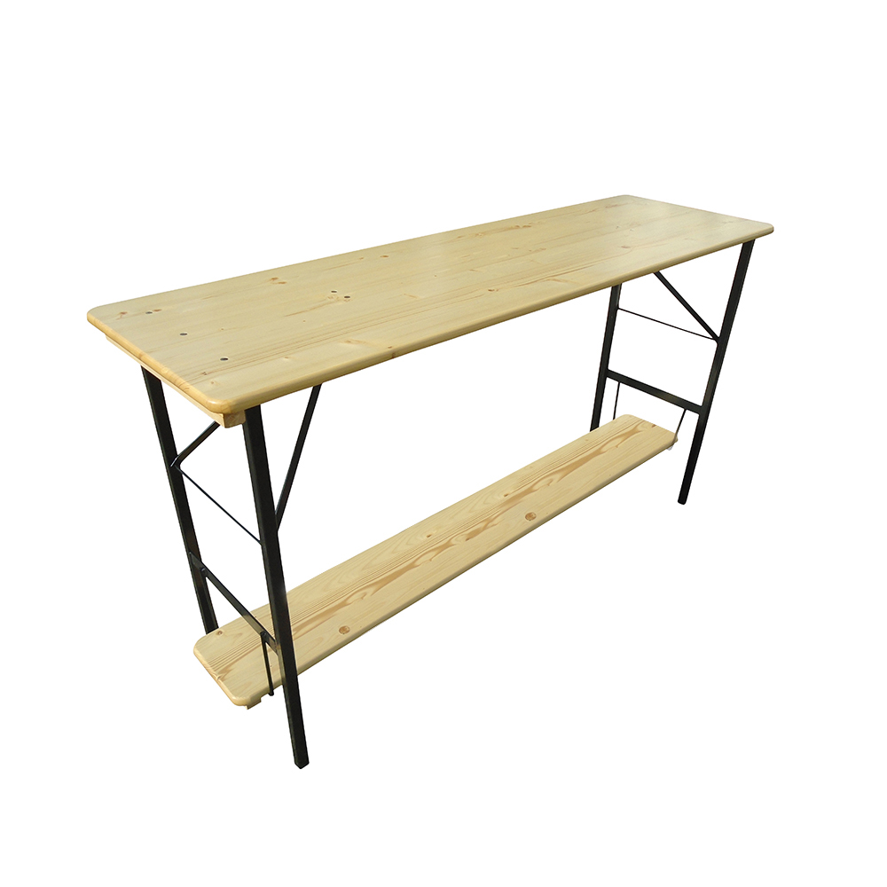 Bar Height Rectangle Table Footrest