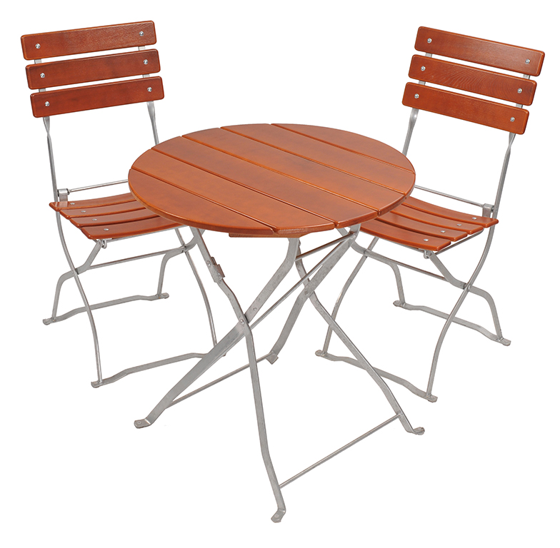 beer garden Bistro small round table 2 chairs