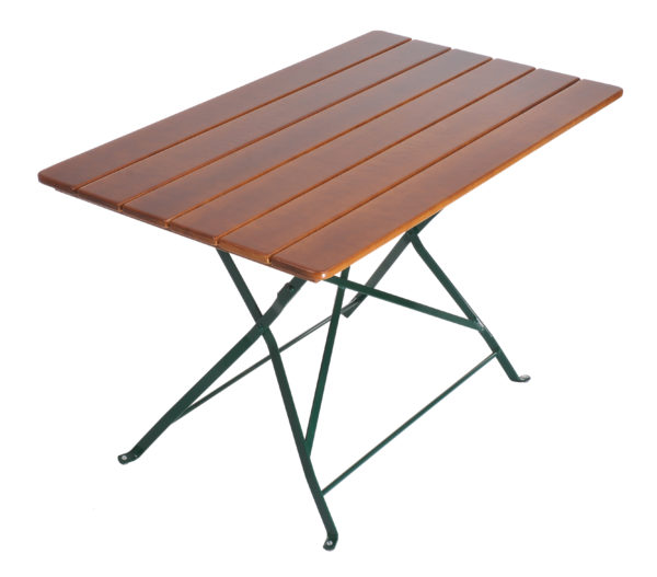 beer garden bistro table rectangle nut brown