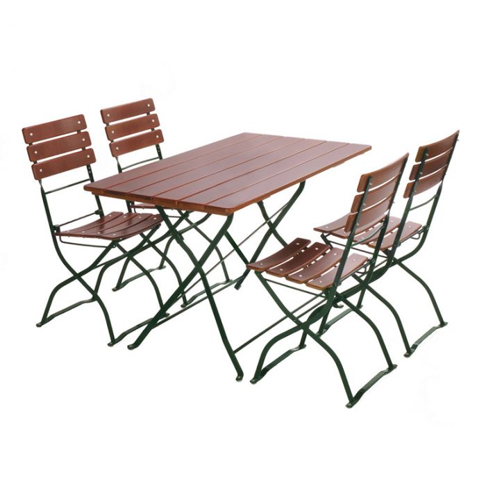 beer garden bistro rectangle table chairs