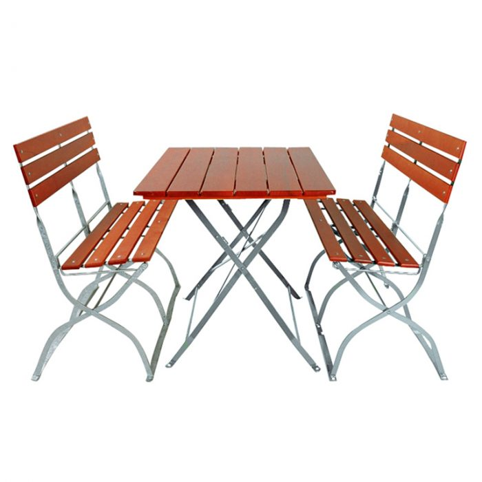 beer garden bistro table folding benches