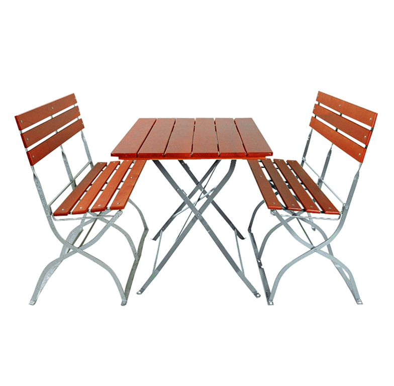 beer garden bistro table folding benches