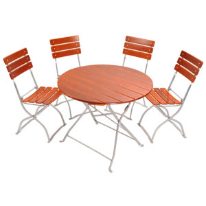 beer garden bistro round table chairs