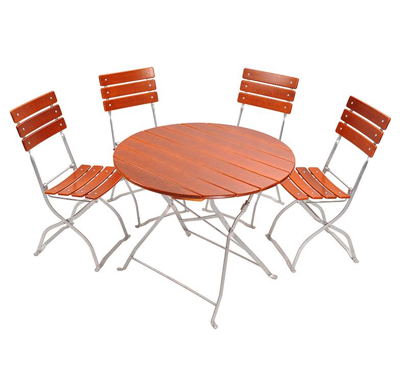 beer garden bistro round table chairs