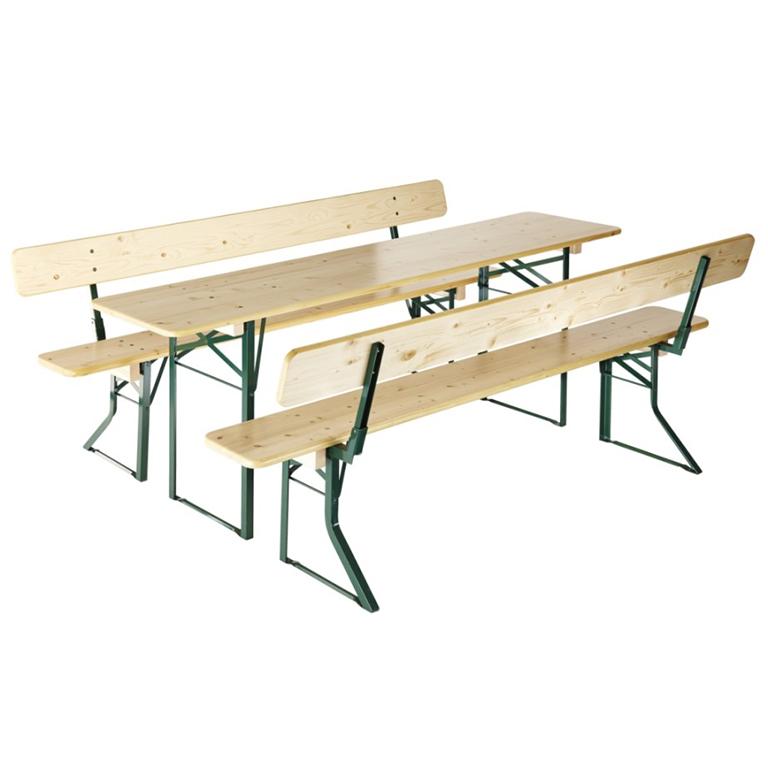 beer gardem table bench backrest