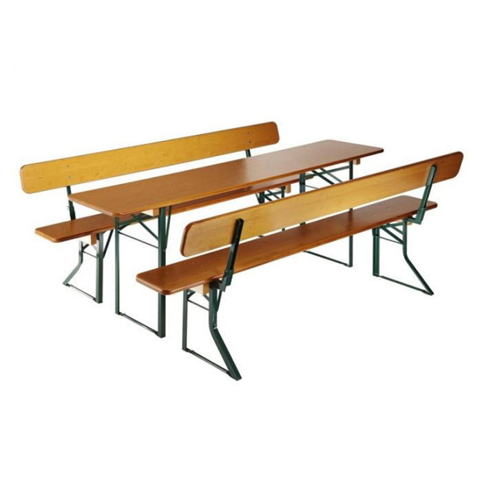 beer garden table bench backrests
