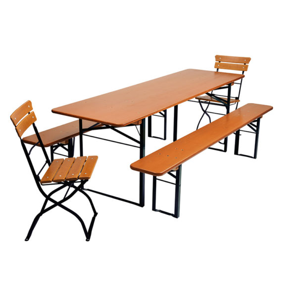 beer garden table bench chairs black