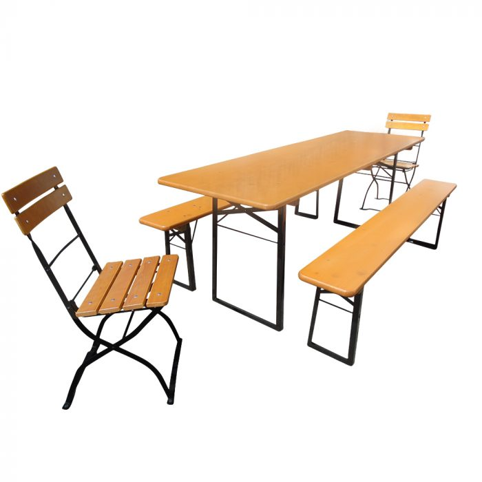 Beer Garden Table Benches 2 Chairs
