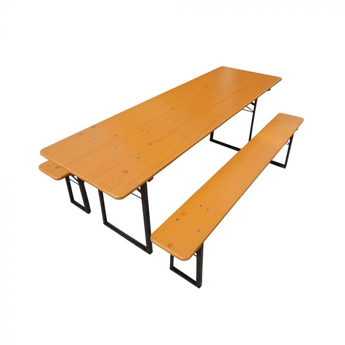 Beer Garden Table Benches Nut Brown