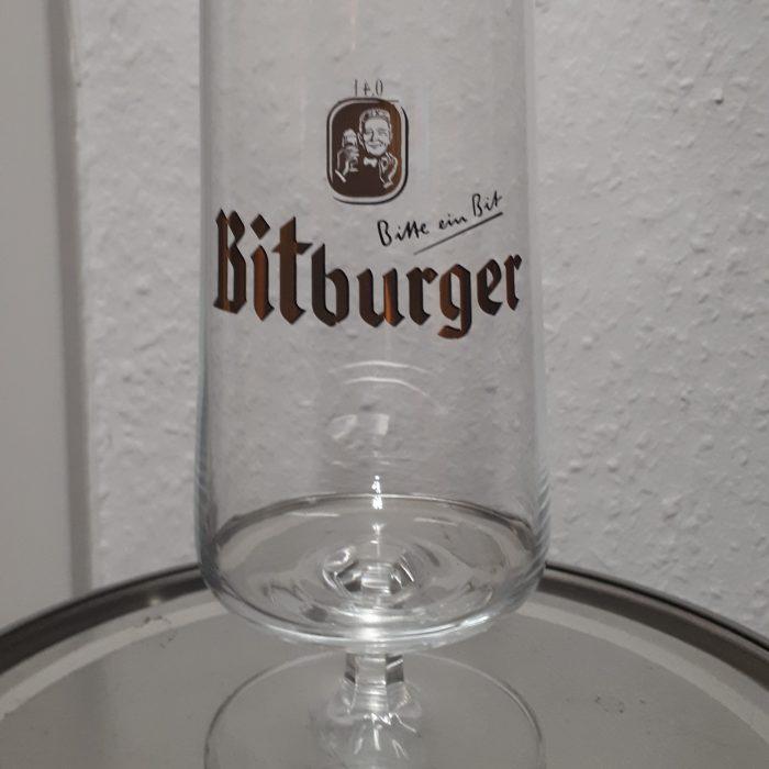Bitburger Pokal Glass