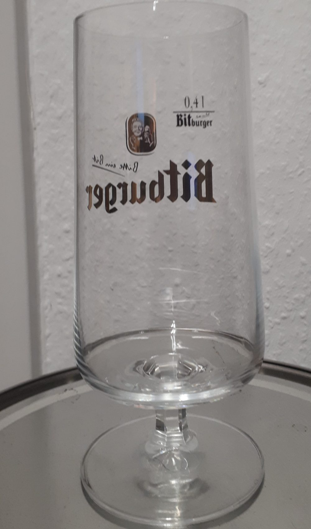 Bitburger Pokal Glass