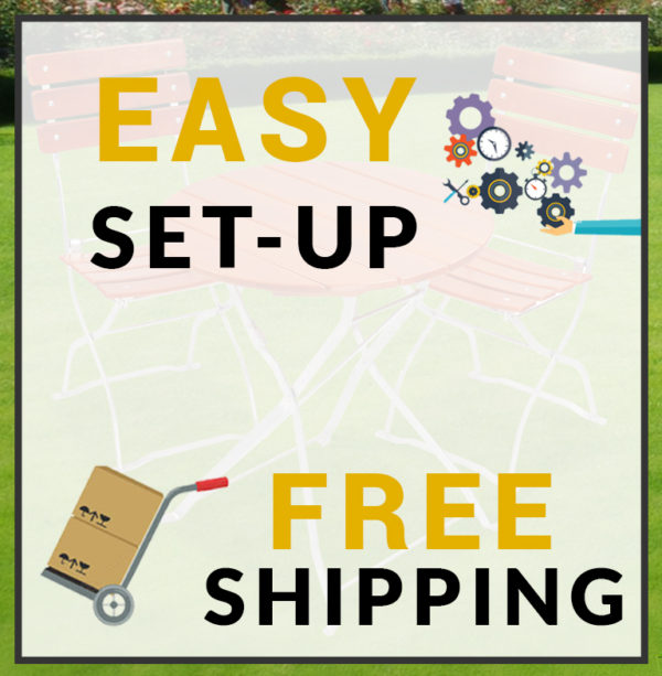 free shipping and easy set up