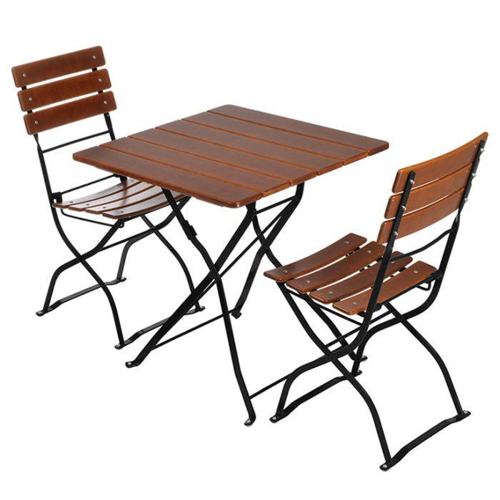Beer Garden Bistro Table 2 Chairs Black Frames