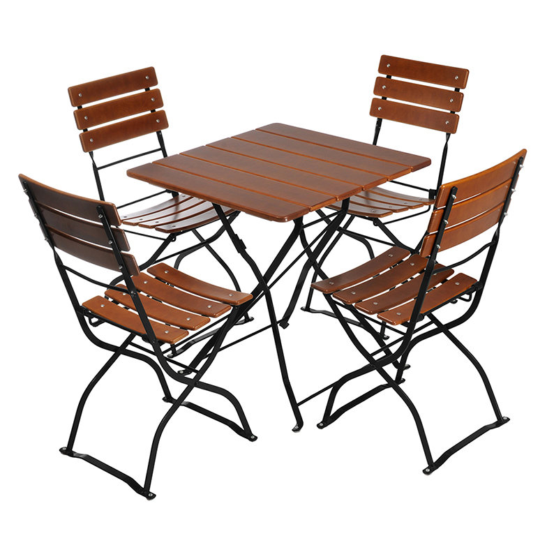 Beer Garden Bistro Table Chairs Nut Brown Black Frames  sc 1 st  Beer Garden Furniture & Square Table u0026 4 Chairs | Beer Garden Furniture
