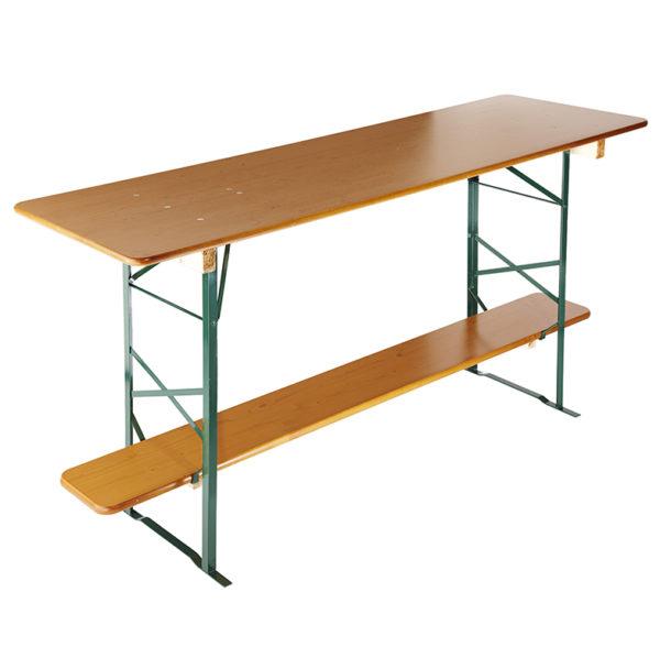 beer garden table bench bar height table