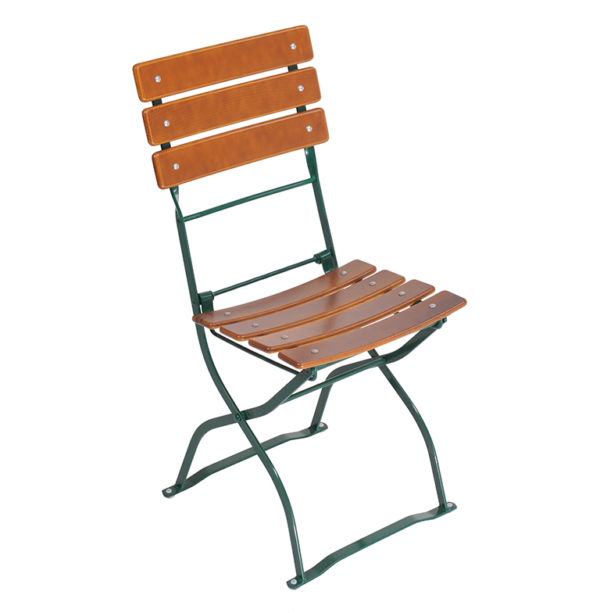 beer garden bistro chair nut brown