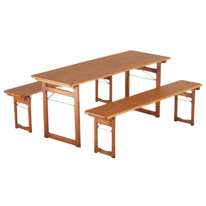 beer garden table and bench set rustical