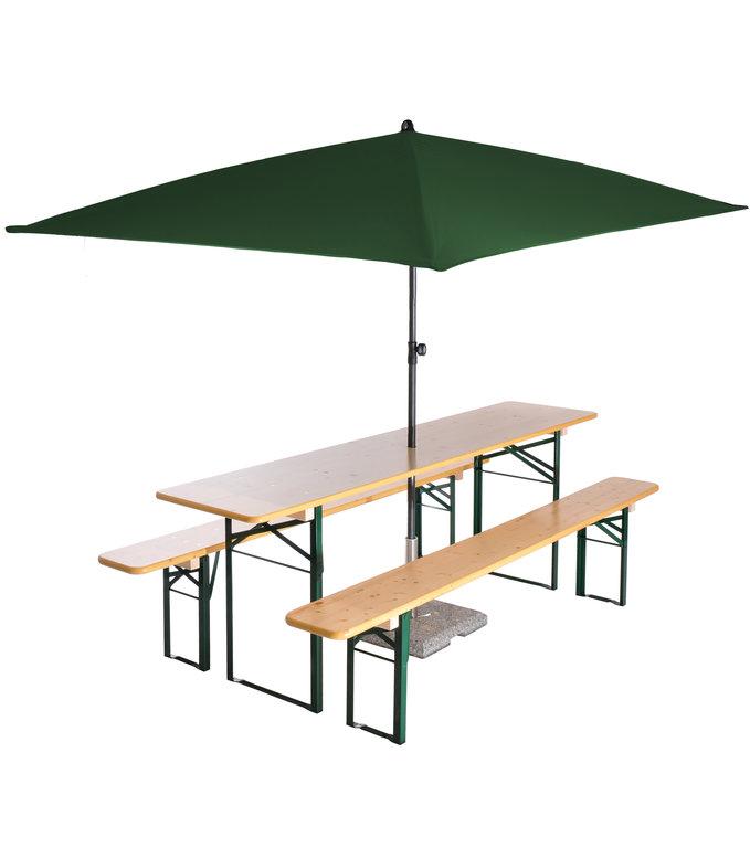 Beer Garden Table Benches Umbrella