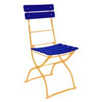 beer garden bistro chair blue orange