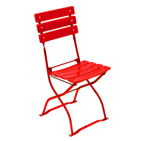 beer garden bistro chair red