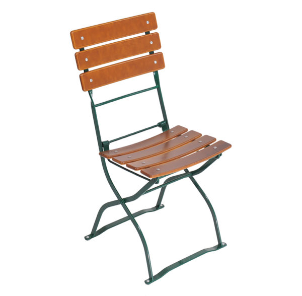 beer garden bistro chair three backrest slats