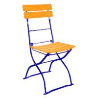 beer garden bistro chair orange blue frames