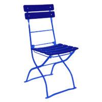 beer garden bistro chair blue
