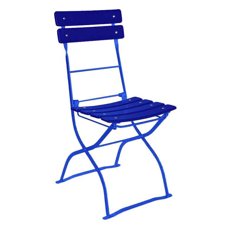 beer garden bistro chair blue