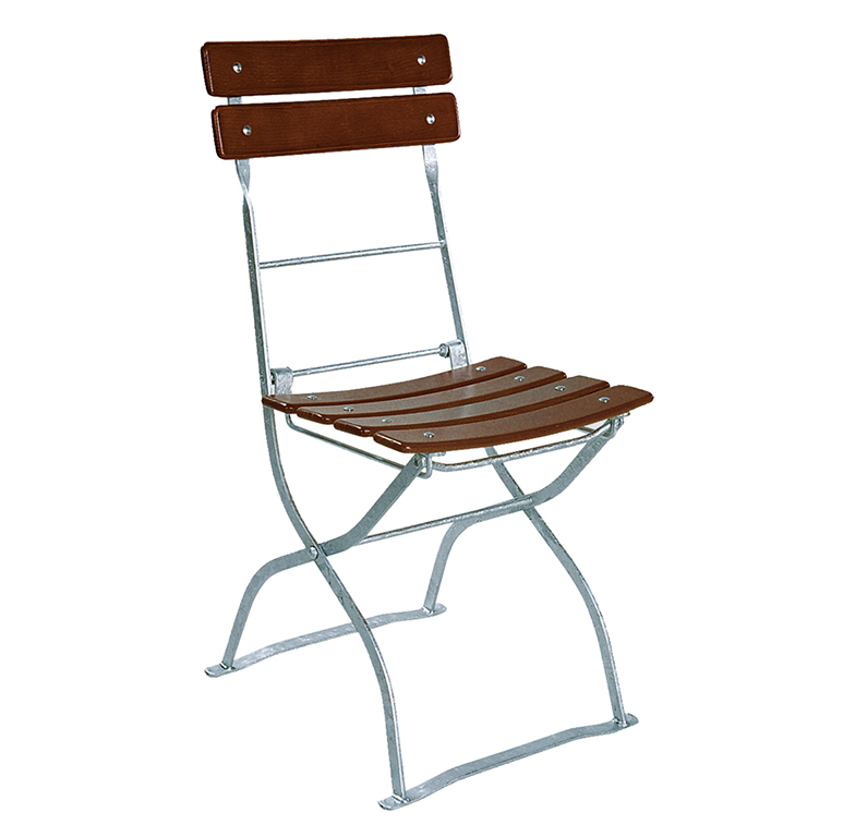 beer garden bistro chair two backrest slats