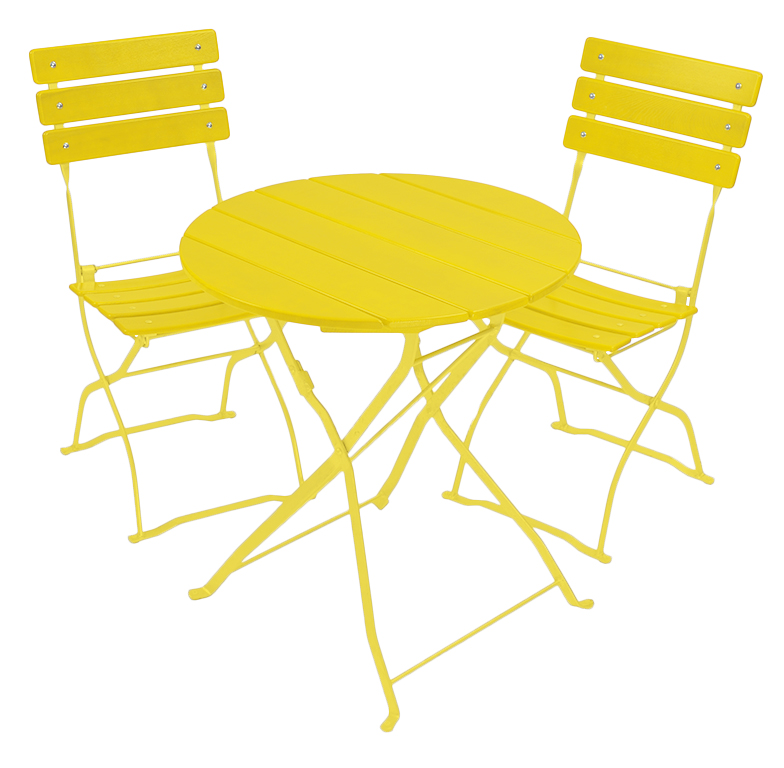 beer garden bistro table and chair set yellow