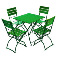 beer garden bistro table chairs green