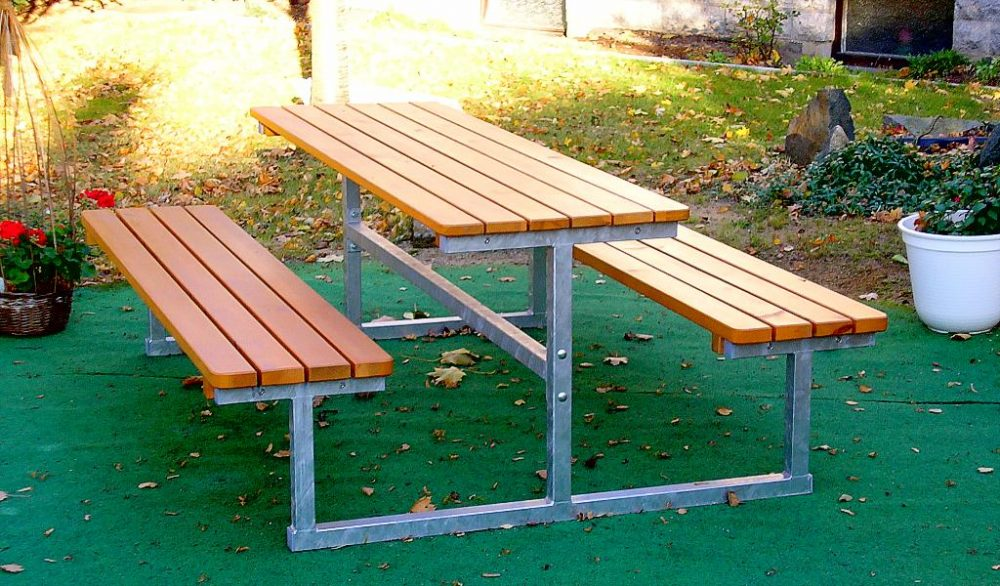 Table and bench set Hamburg