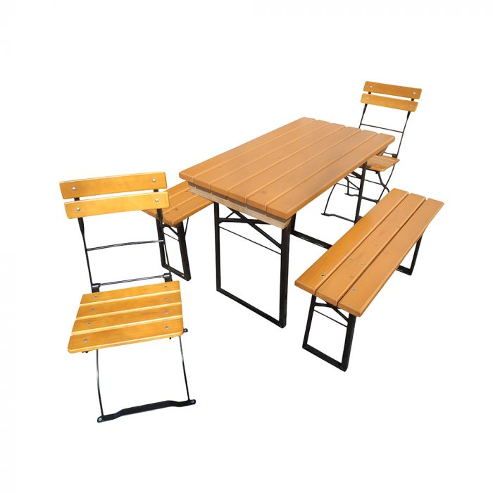 Beer Garden Table Benches Slatted